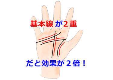【手相】基本線が2重だと効果が2倍!